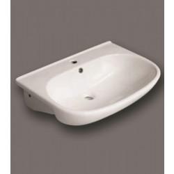 Lavabo semincasso Small in ceramica bianco