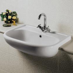 Lavabo semincasso universale tre fori bianco Ideal