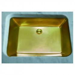 Lavabo sottopiano Rettangolare 56,5 cm oro opaco