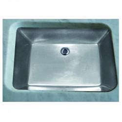 Lavabo sottopiano Rettangolare 56,5 cm Platinum Matt