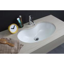 Lavabo sottopiano Sagomato 59,5 cm smaltato totale White