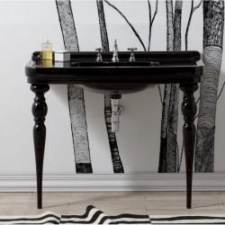Albano lavabo consolle 105 cm completo di gambe Queen Black