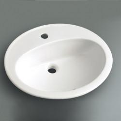 Lavabo da incasso Mary 62 cm bianco