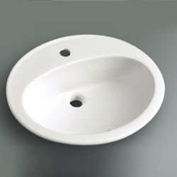 Lavabo da incasso Mary Little 57x48  cm bianco