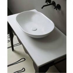 Mild lavabo da appoggio Bianco
