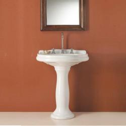 Navona lavabo in ceramica bianco