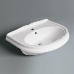 Navona lavabo semincasso 68 cm in ceramica bianco