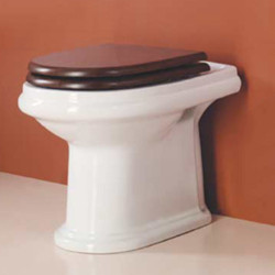 Navona vaso scarico terra in ceramica bianco