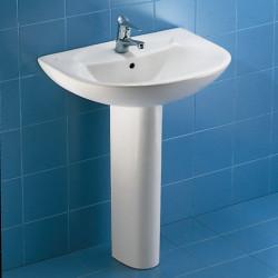 Novella lavabo monoforo 65 cm bianco