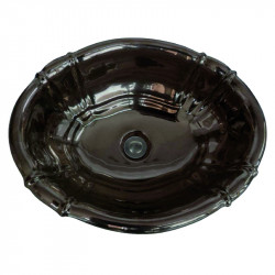 Old America lavabo da incasso 49 cm bronzo lucido