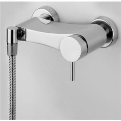 Ottavo miscelatore monocomando doccia esterno in acciaio