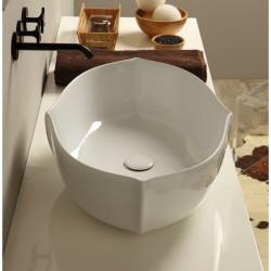 Oyster lavabo da appoggio Bianco