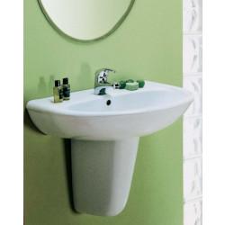 Palio lavabo 60 cm completo di semicolonna bianco