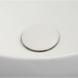 Plate piletta in ceramica click-clack White Agate