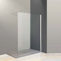 Parete doccia walk-in Federica Bis da 118/120 cm in cristallo 6 mm con braccio di fissaggio   Cromo Trasparente