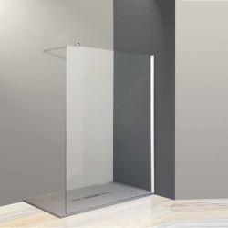 Parete doccia walk-in  Federica Bis da 88/90 cm in cristallo 6 mm con braccio di fissaggio Cromo Trasparente
