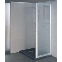 Parete doccia fissa 2602 da 75/83 cm in cristallo 6 mm