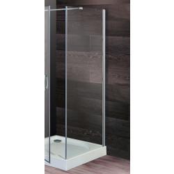 Parete doccia fissa per porte doccia Giorgia/Franca/Morena da 77/79 cm in cristallo 6 mm