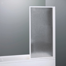 Parete vasca 3100 da 70 cm in alluminio Bianco  e crilex  antiurto