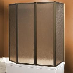 Parete vasca pieghevole con fisso pieghevole 600 da 140 cm in crilex 3 mm