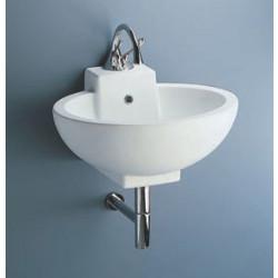 Piano lavabo 59x49 cm  bianco, design Renzo Piano