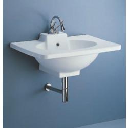 Piano lavabo 75x53 cm bianco, design Renzo Piano