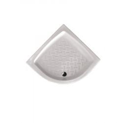 Piatto doccia angolare Basic 75x75 cm bianco