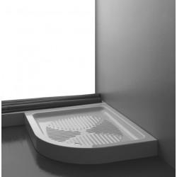 Piatto doccia asimmetrico Basic sinistro 70x90 cm bianco