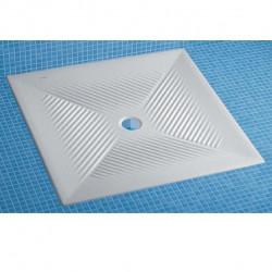 Piatto doccia 80 cm filo pavimento in ceramica bianco