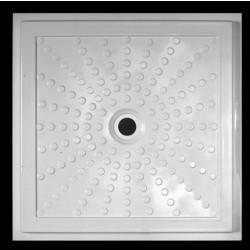 Piatto doccia 80 cm filo pavimento in sintetico bianco