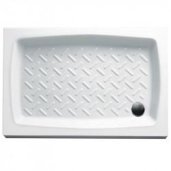 Piatto doccia rettangolare Basic 140x80 cm bianco