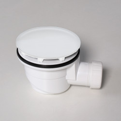 Piletta per piatto doccia 90 mm bianco lucido