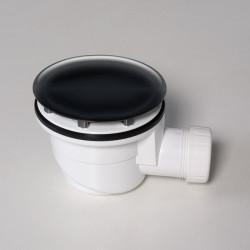 Piletta per piatto doccia 90 mm nero lucido