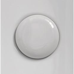 Plate piletta in ceramica click-clack White