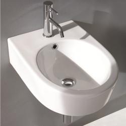 Phatos lavabo ovale da appoggio o sospeso 37x51,5 cm bianco