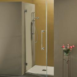 Porta doccia a battente Serry da 80 cm in cristallo 8 mm