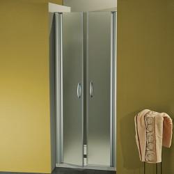 Porta doccia a due battenti  Morena da 87/90 cm in cristallo 6 mm