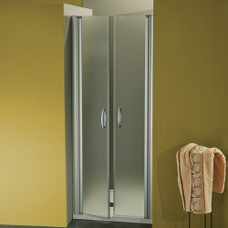 Porta doccia a due battenti  Morena da 77/80 cm in cristallo 6 mm