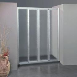 Porta doccia scorrevole con apertura centrale 308/4 da 147/155 cm in crilex 3 mm