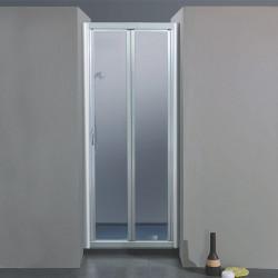 Porta doccia soffietto 1000 da 59/67 cm in cristallo 4 mm