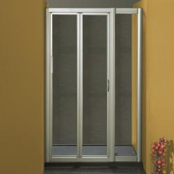 Porta doccia soffietto 1001/F da 98/106 cm in cristallo 4 mm