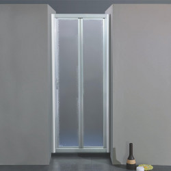 Porta doccia soffietto 205 da 96/104 cm in crilex 3 mm