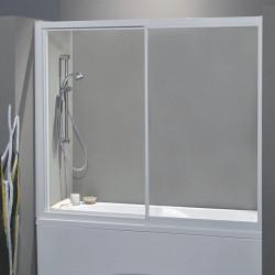 Porta vasca scorrevole 1300/2 da 167/175 cm in cristallo 4 mm