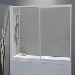 Porta vasca scorrevole 700/2 da 167/175 cm in crilex 3 mm