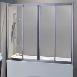 Porta vasca scorrevole con apertura centrale 1300/4 da 167/175 cm in cristallo 4 mm