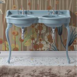 Queen lavabo consolle doppio bacino 120 cm Amazzonite