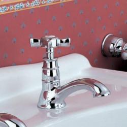 Old England rubinetto lavabo collo cigno cromo