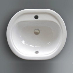 Lavabo da incasso Sammy 54,5 cm bianco