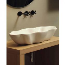 Seastar lavabo da appoggio Bianco