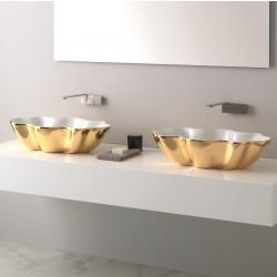 Seastar lavabo da appoggio ExtraLuxury White&Gold